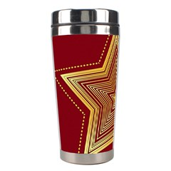 Christmas Star Seamless Pattern Stainless Steel Travel Tumblers by BangZart