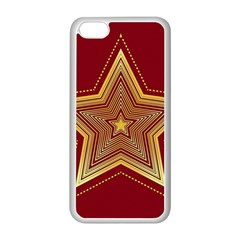Christmas Star Seamless Pattern Apple Iphone 5c Seamless Case (white) by BangZart
