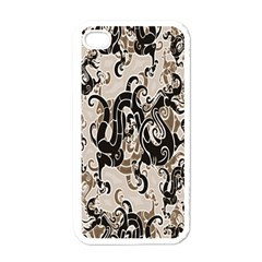 Dragon Pattern Background Apple Iphone 4 Case (white) by BangZart