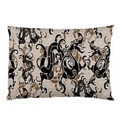 Dragon Pattern Background Pillow Case (two Sides) by BangZart