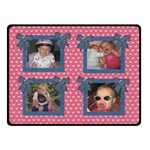 Pink-Denium Blanket - Double Sided Fleece Blanket (Small)
