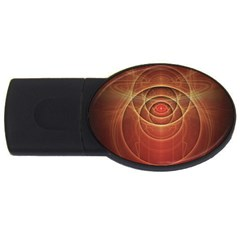 The Rusty Red Fractal Scarab Of Fiery Old Man Ra Usb Flash Drive Oval (4 Gb) by beautifulfractals
