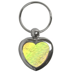 Paint On A Yellow Background                        Key Chain (heart) by LalyLauraFLM