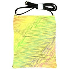 Paint On A Yellow Background                        Shoulder Sling Bag by LalyLauraFLM