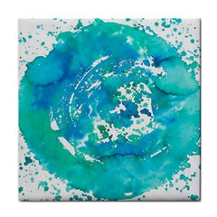 Blue Watercolors Circle                          Face Towel by LalyLauraFLM