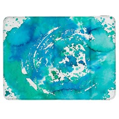 Blue Watercolors Circle                    Htc One M7 Hardshell Case by LalyLauraFLM