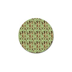 Puppy Dog Pattern Golf Ball Marker (10 Pack) by BangZart