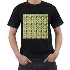 Puppy Dog Pattern Men s T Shirt (black)