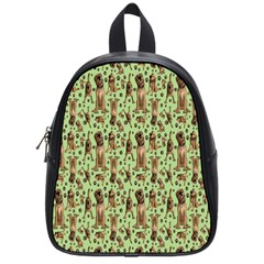 Puppy Dog Pattern School Bags (small)  by BangZart
