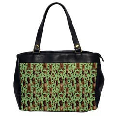 Puppy Dog Pattern Office Handbags by BangZart