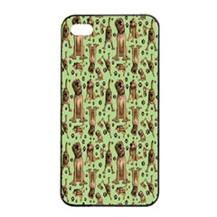 Puppy Dog Pattern Apple Iphone 4/4s Seamless Case (black) by BangZart