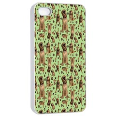 Puppy Dog Pattern Apple Iphone 4/4s Seamless Case (white) by BangZart