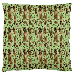 Puppy Dog Pattern Large Cushion Case (one Side) by BangZart