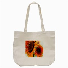 Sunflower Art  Artistic Effect Background Tote Bag (cream) by BangZart