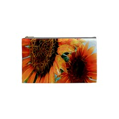 Sunflower Art  Artistic Effect Background Cosmetic Bag (small)  by BangZart