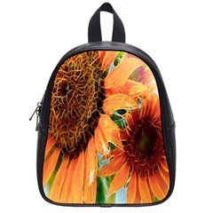 Sunflower Art  Artistic Effect Background School Bags (small)  by BangZart