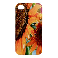 Sunflower Art  Artistic Effect Background Apple Iphone 4/4s Hardshell Case by BangZart