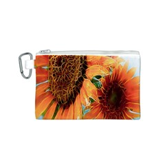 Sunflower Art  Artistic Effect Background Canvas Cosmetic Bag (s) by BangZart