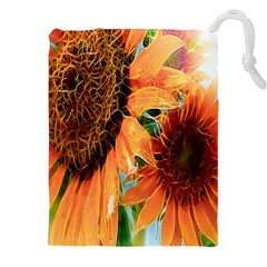 Sunflower Art  Artistic Effect Background Drawstring Pouches (xxl) by BangZart