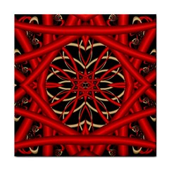 Fractal Wallpaper With Red Tangled Wires Tile Coasters by BangZart