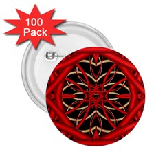 Fractal Wallpaper With Red Tangled Wires 2 25  Buttons (100 Pack)  by BangZart