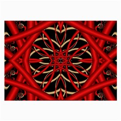 Fractal Wallpaper With Red Tangled Wires Large Glasses Cloth by BangZart