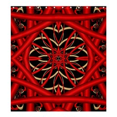 Fractal Wallpaper With Red Tangled Wires Shower Curtain 66  X 72  (large)  by BangZart