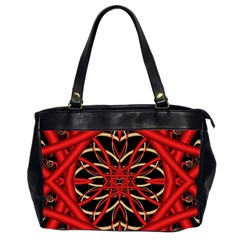 Fractal Wallpaper With Red Tangled Wires Office Handbags (2 Sides)  by BangZart
