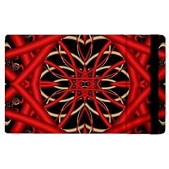 Fractal Wallpaper With Red Tangled Wires Apple Ipad 2 Flip Case by BangZart