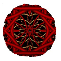 Fractal Wallpaper With Red Tangled Wires Large 18  Premium Round Cushions by BangZart