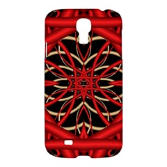 Fractal Wallpaper With Red Tangled Wires Samsung Galaxy S4 I9500/i9505 Hardshell Case by BangZart