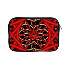 Fractal Wallpaper With Red Tangled Wires Apple Ipad Mini Zipper Cases by BangZart