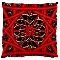 Fractal Wallpaper With Red Tangled Wires Standard Flano Cushion Case (two Sides) by BangZart
