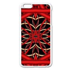 Fractal Wallpaper With Red Tangled Wires Apple Iphone 6 Plus/6s Plus Enamel White Case by BangZart