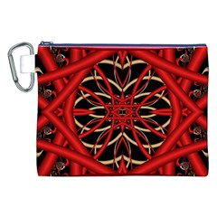 Fractal Wallpaper With Red Tangled Wires Canvas Cosmetic Bag (xxl) by BangZart