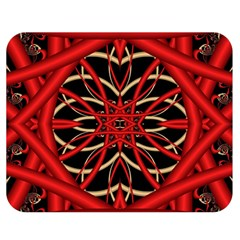 Fractal Wallpaper With Red Tangled Wires Double Sided Flano Blanket (medium)  by BangZart