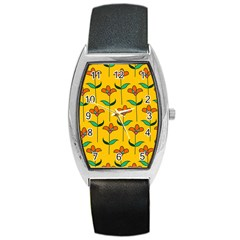 Small Flowers Pattern Floral Seamless Pattern Vector Barrel Style Metal Watch by BangZart