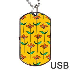 Small Flowers Pattern Floral Seamless Pattern Vector Dog Tag Usb Flash (one Side) by BangZart