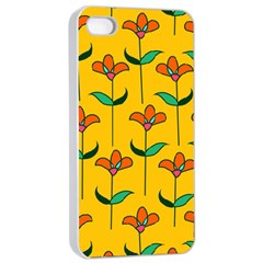 Small Flowers Pattern Floral Seamless Pattern Vector Apple Iphone 4/4s Seamless Case (white) by BangZart
