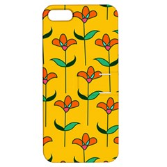 Small Flowers Pattern Floral Seamless Pattern Vector Apple Iphone 5 Hardshell Case With Stand by BangZart