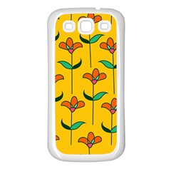 Small Flowers Pattern Floral Seamless Pattern Vector Samsung Galaxy S3 Back Case (white) by BangZart