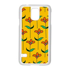 Small Flowers Pattern Floral Seamless Pattern Vector Samsung Galaxy S5 Case (white) by BangZart