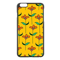 Small Flowers Pattern Floral Seamless Pattern Vector Apple Iphone 6 Plus/6s Plus Black Enamel Case by BangZart