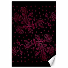 Pink Floral Pattern Background Wallpaper Canvas 20  X 30   by BangZart