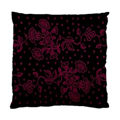 Pink Floral Pattern Background Wallpaper Standard Cushion Case (one Side) by BangZart