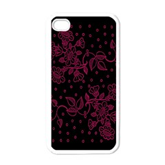 Pink Floral Pattern Background Wallpaper Apple Iphone 4 Case (white) by BangZart