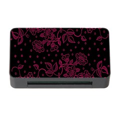 Pink Floral Pattern Background Wallpaper Memory Card Reader With Cf by BangZart