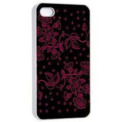 Pink Floral Pattern Background Wallpaper Apple Iphone 4/4s Seamless Case (white) by BangZart