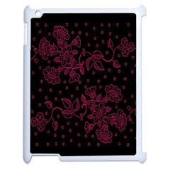 Pink Floral Pattern Background Wallpaper Apple Ipad 2 Case (white) by BangZart