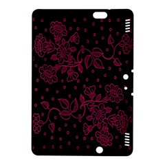 Pink Floral Pattern Background Wallpaper Kindle Fire HDX 8.9  Hardshell Case